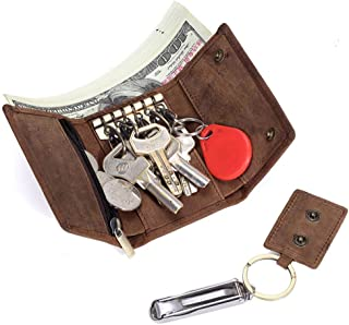 Key Case, Key Fob Case,Multifunction Coin Purse Top Layer Leather Car Key Case