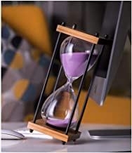 Hourglass, Retro Industrial Style Design, Hand-crafted, Glass And Wood Combined, Can Be Used As A Gift (Black, Blue, Gold,...