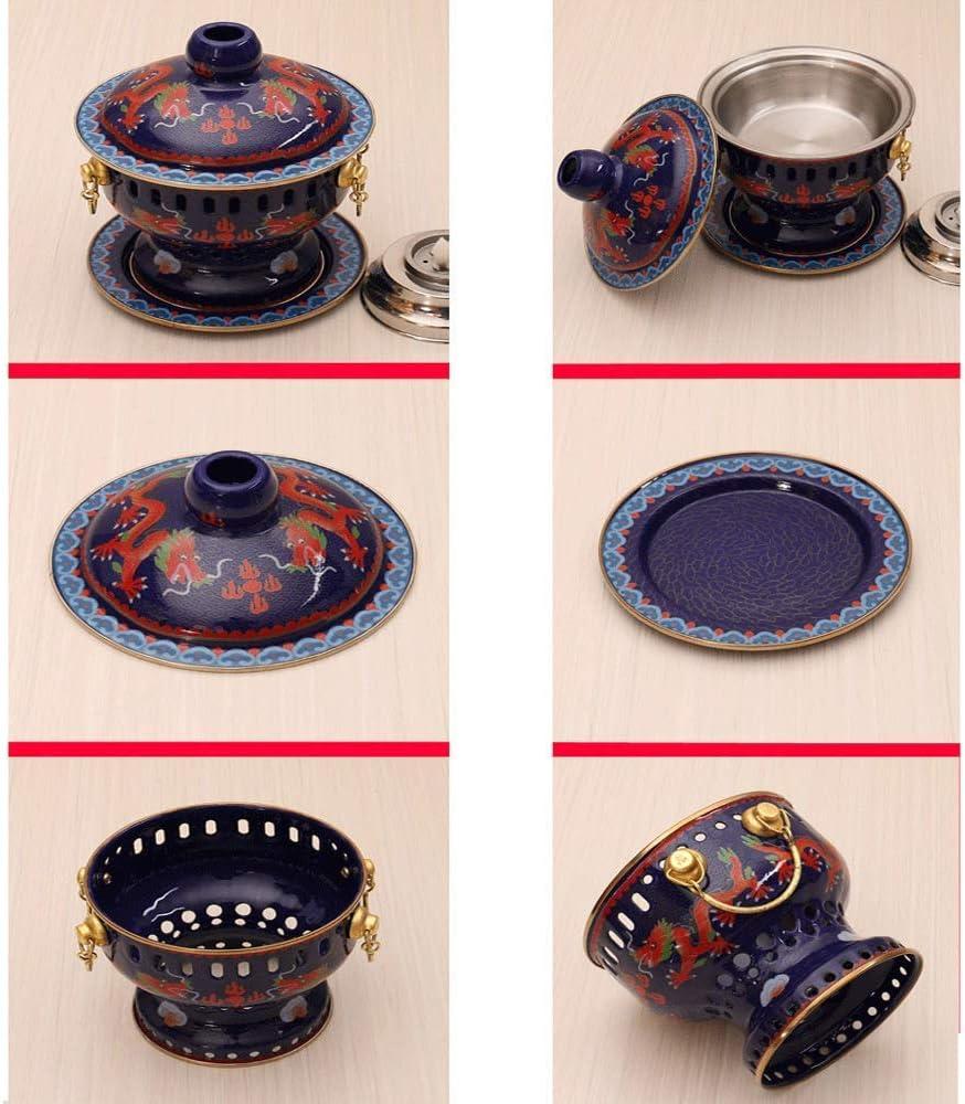 L'alcool Pot Hot Pot - Chinois Antique Bleu Cuivre Hot Pot seul petit Hot Pot authentique cuivre pur liquide WKY (Color : C) A