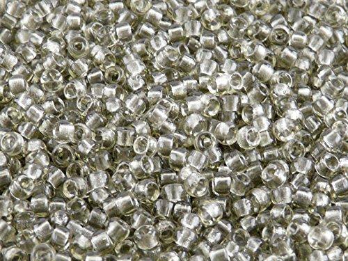 Matubo - 10gr (env. 220 pcs) Tchèque pressé perles de verre, Perles de rocaille 7/0 (3.5mm) Couleur: Smoke Grey