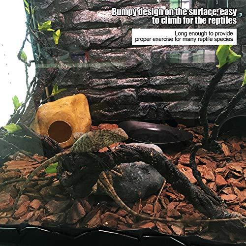 Fdit Enredaderas Rama de Escalada Reptil Artificial Flexible Decoración de Selva para Mascota Lagartos Araña (S)