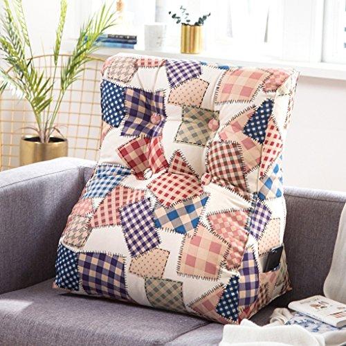 Coussins triangulaires, coussins de canapé de chevet, oreiller de taille de lecture, lavable (Couleur : C, taille : 55x60cm)