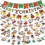 【 8個セット 】Hooggle クリスマスガーランド クリスマス飾り 飾り付け 店舗 部屋 装飾 christmas パーティー サンタ オーナメント メリークリスマス 壁飾り クリスマス雰囲気満点 リサイクル可能