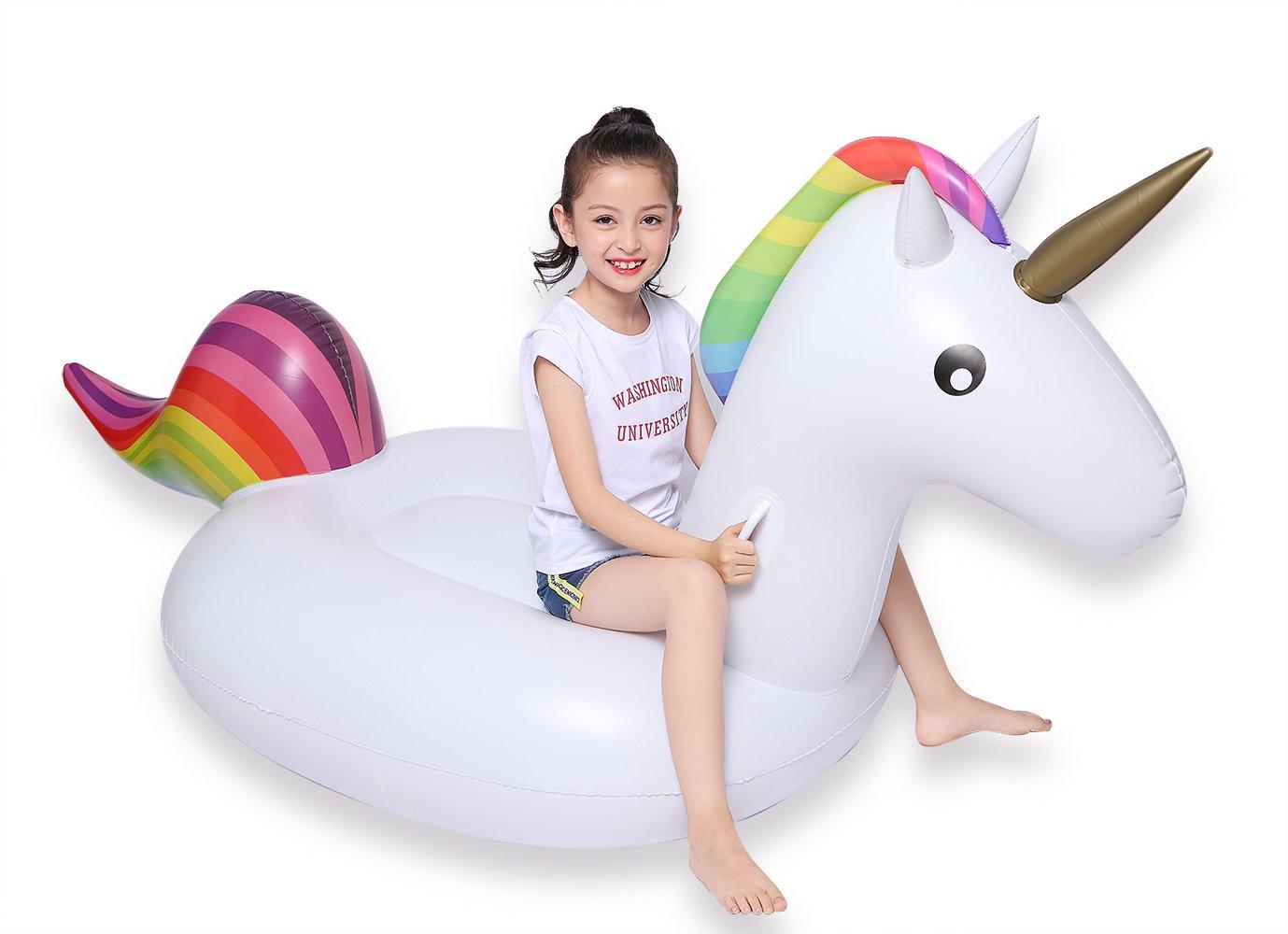 Jasonwell Unicornio Hinchable colchonetas Piscina Inflable ...