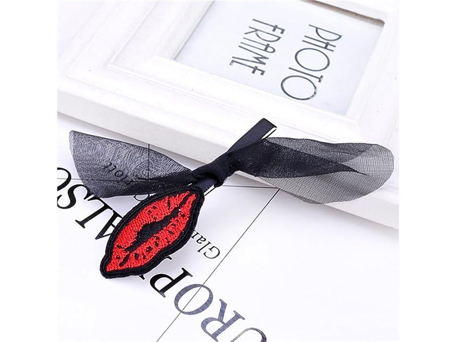 純粋にマラドロイトやりすぎOsize 美しいスタイル レースのボウの唇の女の子のヘアデコレーションクリップのクリップ(黒)