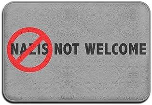 Nazis Not Welcome Funny Welcome Mat Doormat Indoor Washable Outdoor Doormats For Front Door