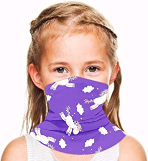 Kids Face Cover Mouth Mask Scarf Bandanas Neck Gaiter UV Sun-Protection for Festivals Outdoors