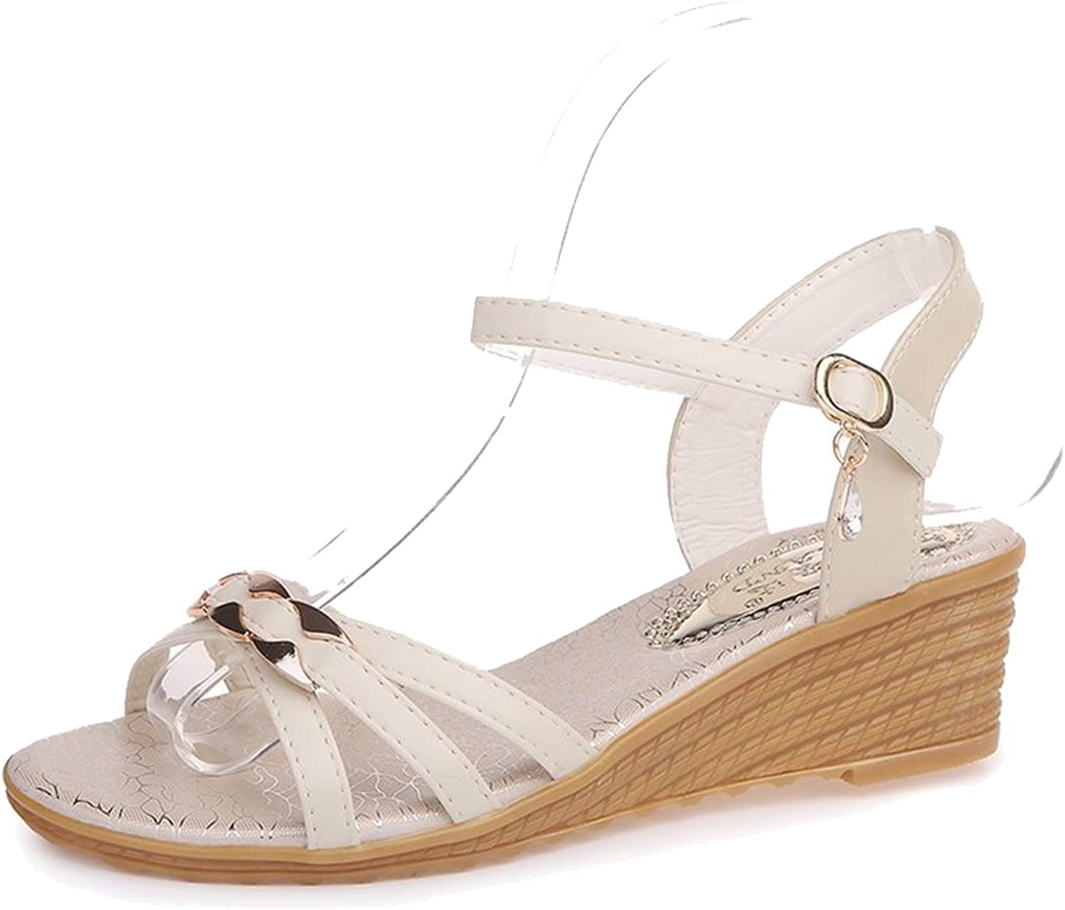 FEMAROLY Wedges Sandals Female Summer with Buckle Students Summer shoes