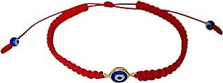 Evil Eye Red String Bracelet Macrame Braided with Blue Lucky Eye to Ward Off The Evil Eye Mal De Ojo