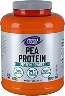 NOW Sports Nutrition, Pea Protein Powder, Unflavored, 7-Pound
