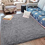 Fluffy Soft Kids Room Rug Baby Nursery Decor, Anti-Skid Large Fuzzy...