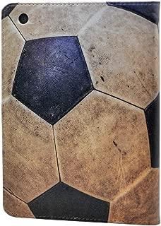 iPad Mini 5 Case 2019,Vintage Soccer Ball Football Pattern Leather Flip Stand Case Cover for Apple iPad Mini 5th Gen,iPad Mini 4 7.9-inch