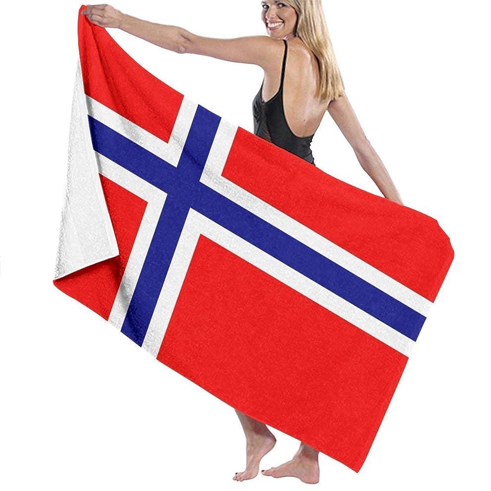 オーラル見る人排気ノルウェー国旗ビーチ&バスタオル柔らかい綿マイクロファイバータオル水泳とキャンプのタオルギフト80 x 130 cm