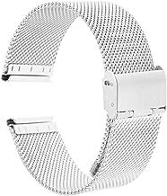 milageto Relojes De Malla Milanesa De Acero Inoxidable Correas Reloj De Pulsera Reparaciones 16-24 Mm