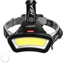 YINGNBH Hoofd Zaklamp Lange Verlichtingsafstand USB oplaadbare LED Koplamp Groothoek COB Hoofd Licht Lantaarn Gebruik 2 * ...