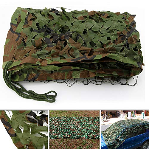 Keyohome Filet camouflage en tissu Oxford 2 x 1,5 m pour décoration de fêtes à thème voiture couverture camouflage pour se cacher lors de la chasse