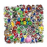 Skateboard Pegatinas 17 unids/pack PVC dibujos animados Super Mario niños pegatinas impermeables maleta guitarra...
