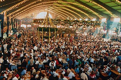 633087 Bier Tent Houding 4000 Patronen Op Oktoberfest München A4 Photo Poster Print 10x8