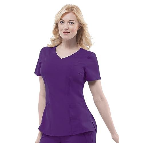 fb3a00fef6d healing hands Purple Label Women's Jordan 2172 Mock Wrap Scrub Top Scrubs