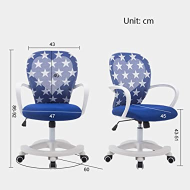 Furniture of Home Children's desks and Chairs, Adjustable Student Computer armrest Swivel Chair, Ergonomic Chair Student