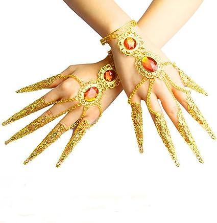Ewandastore Belly Dance Wrist Ankle Cuffs Bracelets Wristband Gypsy JewelryHalloween Costume Accessory