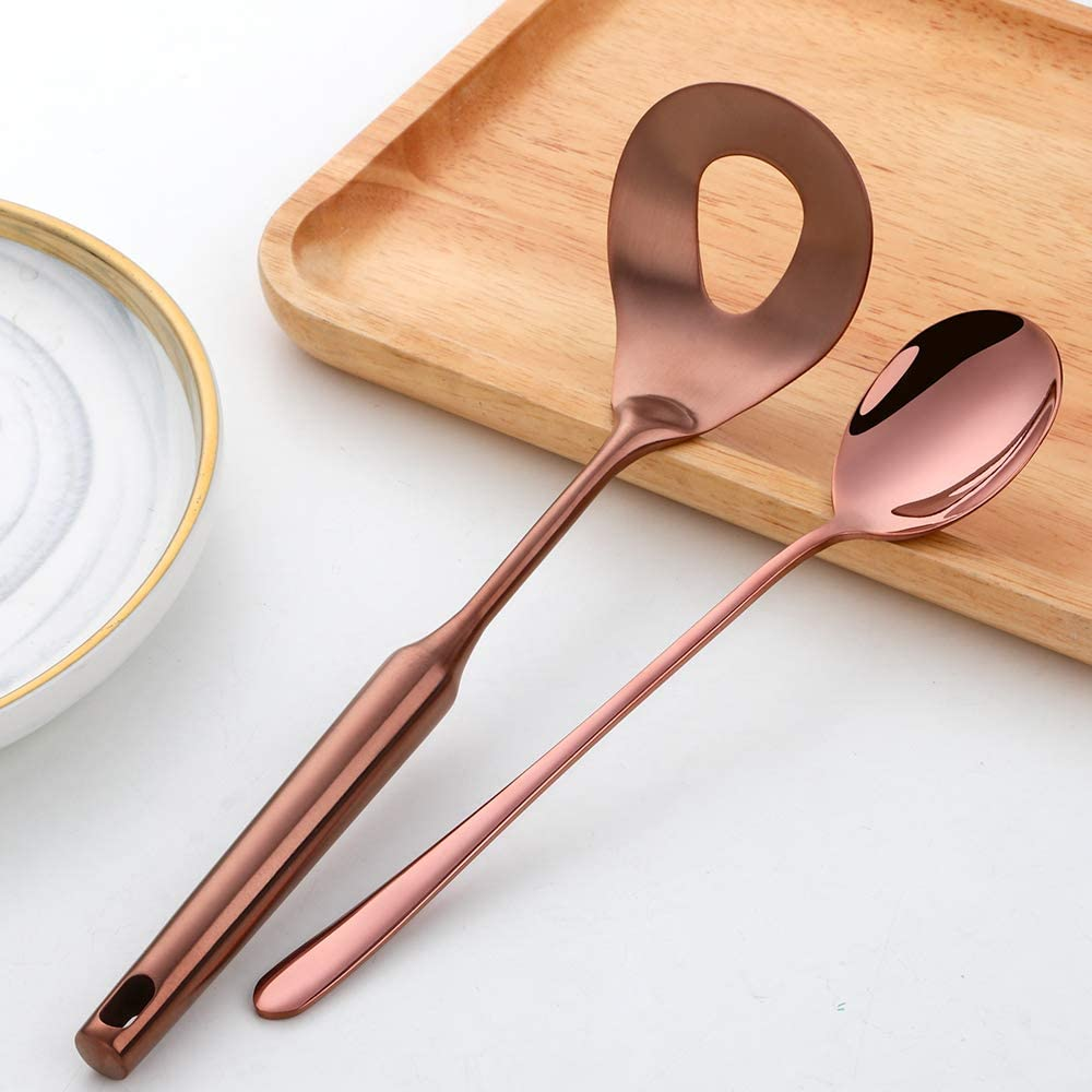 Meatball Spoon Set,2 Pcs 18//8 Stainless Steel Meatball Spoon,Non-Stick Meatball Maker with Long Handle by Buy THINGS!(Gold)