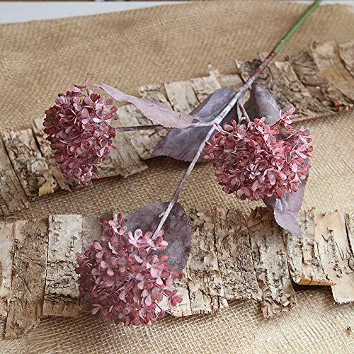 MEITAO Kunstmatige bloem 3 hoofd hortensia bal bloem tak kunststof kunstmatige bloemen huwelijk thuis op kunstmatige bloemen B