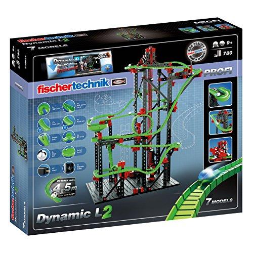 fischertechnik Profi Dynamic L2 + Crazy Machines 3, 780-tlg, Rolling Action, Kugelbahn, Motorikspielzeug, Baukasten, 541177