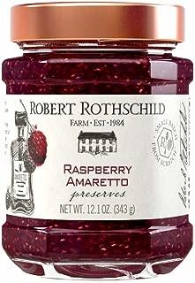 Robert Rothschild Farm Raspberry Amaretto Preserves (12.1 oz) - SOFI Award Winning Preserve - Cake or Cookie Filling - Toast or Bagel Spread- Gluten Free Ingredients