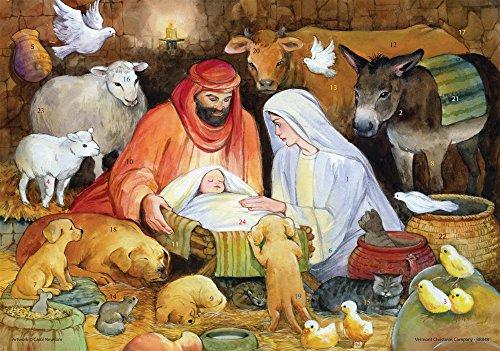 Vermont Christmas Company Adoring Animals Religious Advent Calendar