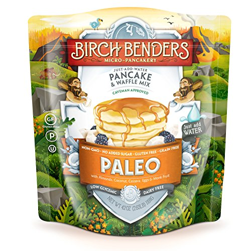 Paleo Pancake and Waffle Mix by Birch Benders LowCarb High Protein High Fiber Glutenfree Low Glycemic Prebiotic KetoFriendly Made with Cassava Coconut amp Almond Flour 42 Ounce Pack of 1