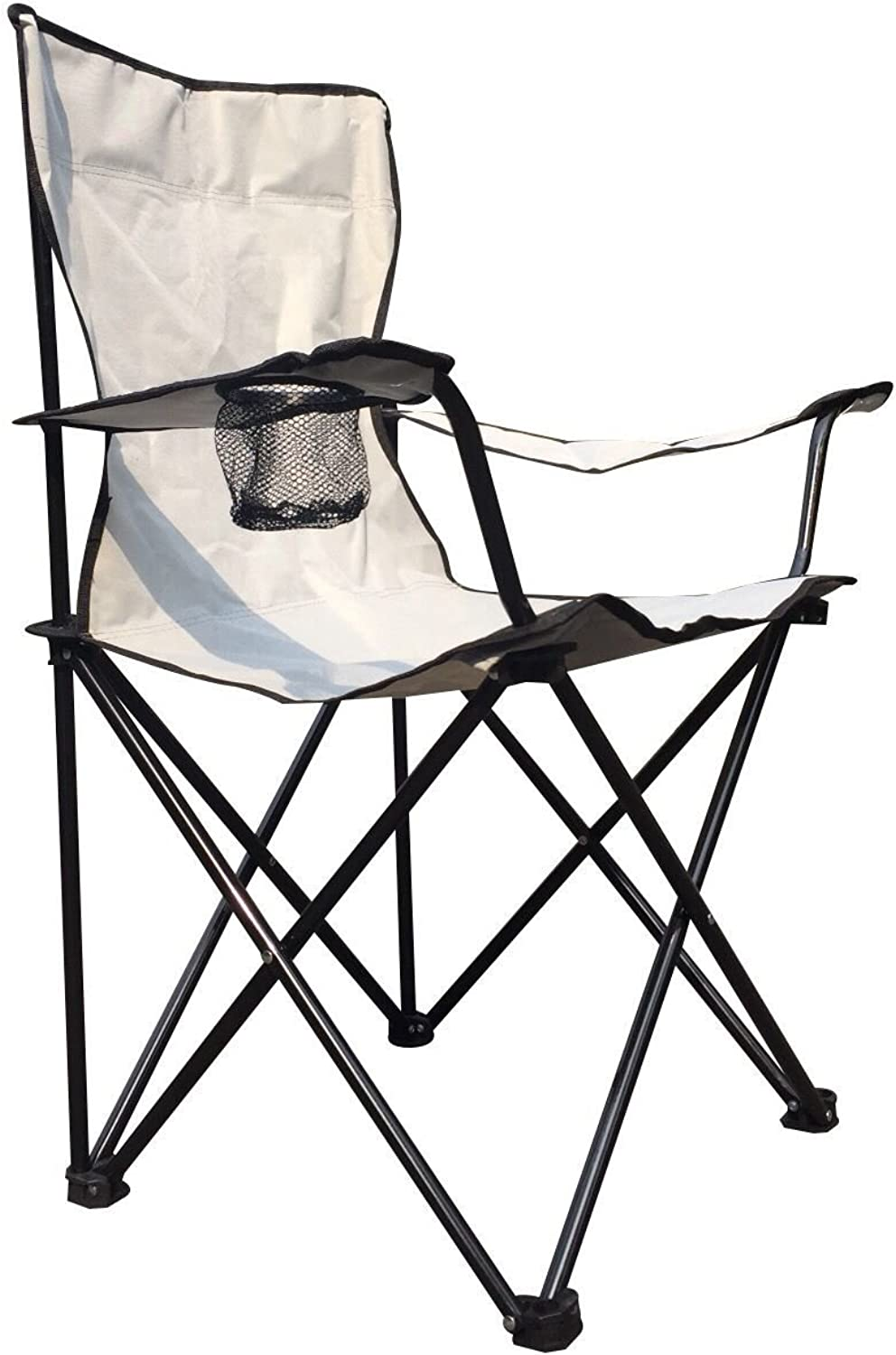 Grit Folding Premium Quad Chair with Carry Bag for Your Camping, Fishing, Enjoy Your Leisure Time. (Grey)