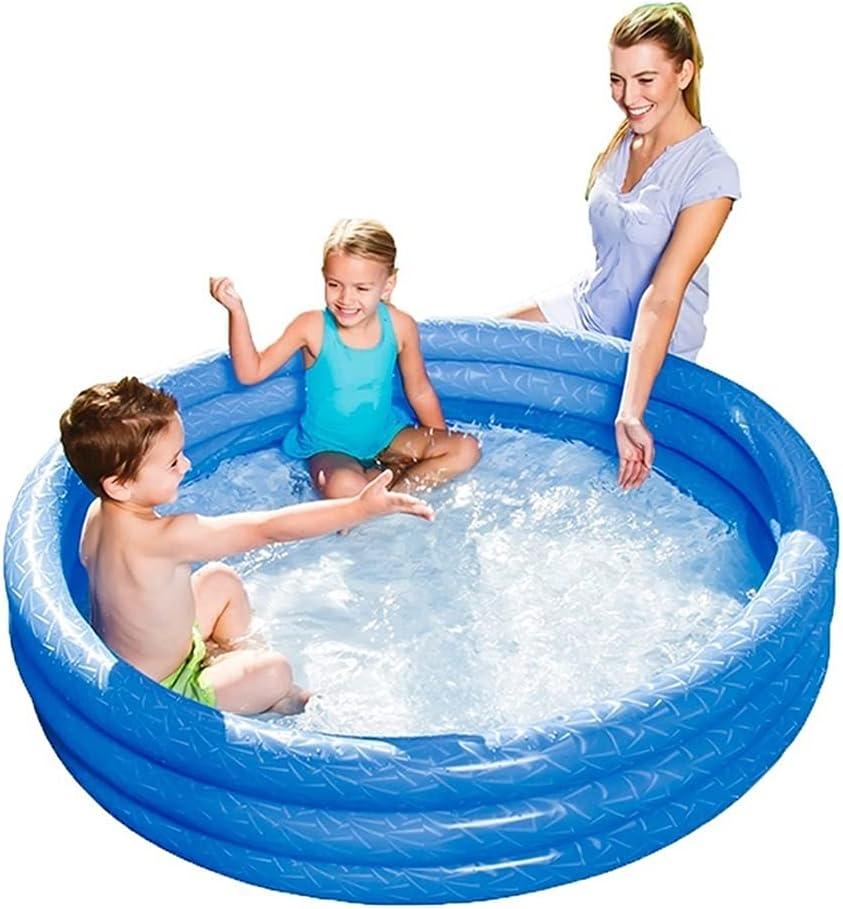 Bañeras con jacuzzi Piscina Al Aire Libre Piscina Infantil Inflable para Niños Engrosada para El Hogar Piscina Interior para Bebés (Color : Blue, Size : 102 * 102 * 25cm)