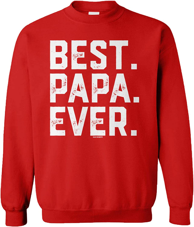 Original Classic Dad Fathers Day Papa Best Crewneck Sweatshirt