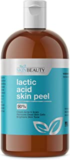 LACTIC Acid 90% Skin Chemical Peel- Alpha Hydroxy (AHA) For Acne, Skin Brightening, Wrinkles, Dry Skin, Age Spots, Uneven Skin Tone, Melasma & More (from Skin Beauty Solutions) - 16oz/480ml