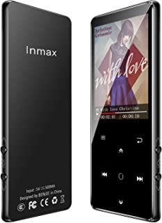 Inmax MP3プレーヤー 【2019最新版】bluetooth4.0 mp3プレイヤー 2.4インチ大画面 HIFI超高音質 合金製 FMラジオ 録音 デジタルオーディオプレーヤー 8GB内蔵容量 最大128GBまで拡張可能 専用イヤホン付け 音楽プレーヤー 小型 FMラジオ 録音対応 …