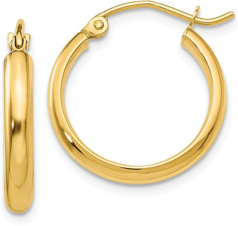 Beautiful Yellow gold 14K Yellowgold 14k Round Tube Hoop Earrings