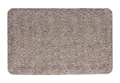 andiamo Fußmatte Samson, waschbare & resistente Türmatte aus 100% Baumwolle, Größe:100 x 150 cm, Farbe:Granit