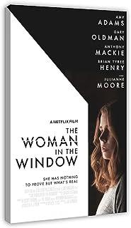 Film kvinnan i fönstret kanvas affisch sovrum dekor sport landskap kontor rum dekor presentram; 40 × 60 cm (16 × 24 tum)