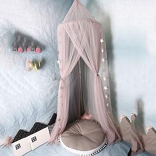 Mosquitero de dosel de ensue/ño para las princesas hecho de 4 capas de poli/éster granadina de alta densidad col el dise/ño de c/úpula rosa