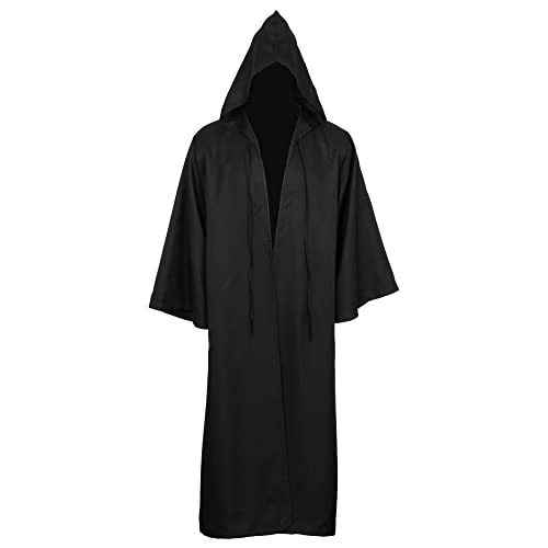 Men Costume Halloween Tunic Hooded Robe Cloak Knight Gothic Fancy Dress  Cosplay Outfit d8bf6f3f6