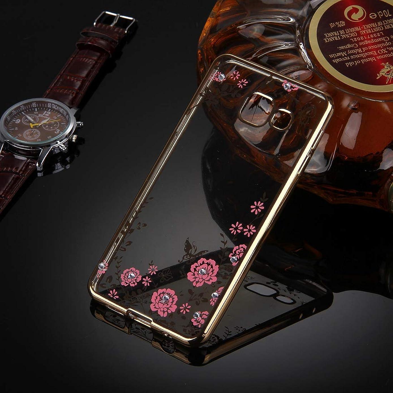 可決エチケット暴動Galaxy A5(2016)/ A510用フラワーパターンメッキソフトTPU保護カバーケース(ローズゴールド)新しい Yikaja (色 : Gold)