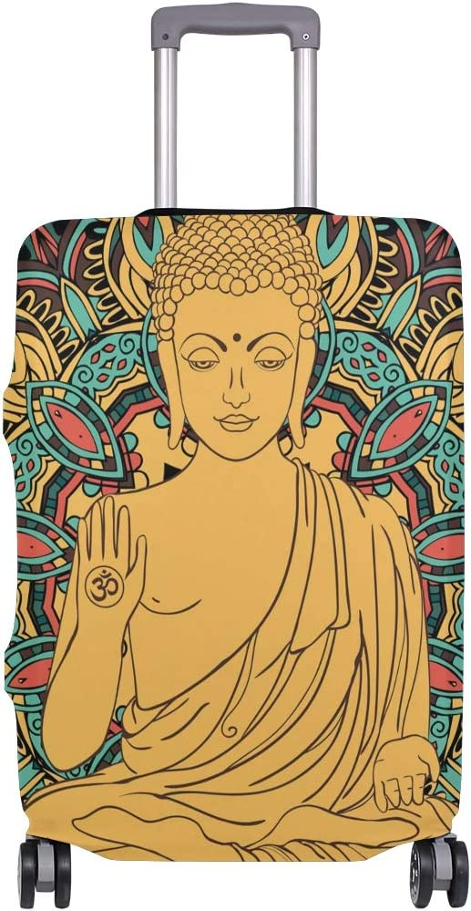 Buddha Estatua Bohemio patrón Maleta Funda de Equipaje sólo Funda