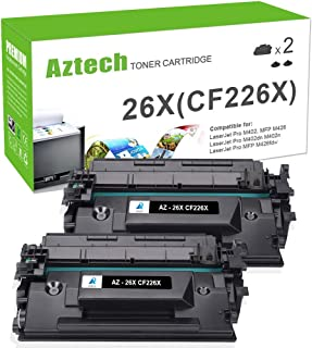 Aztech Compatible Toner Cartridge Replacement for HP 26X CF226X 26A CF226A (Black, 2-Packs)