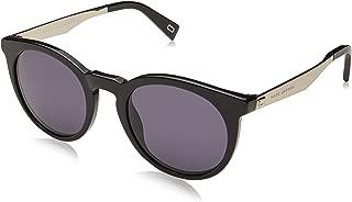 Marc Jacobs Women's Marc 204/S IR 807 47 Sunglasses, (Black/Grey Blue)