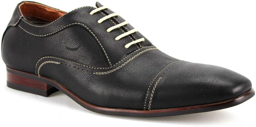 Ferro Aldo Men's 19285 Classic Cap Toe Oxfords Dress Shoes