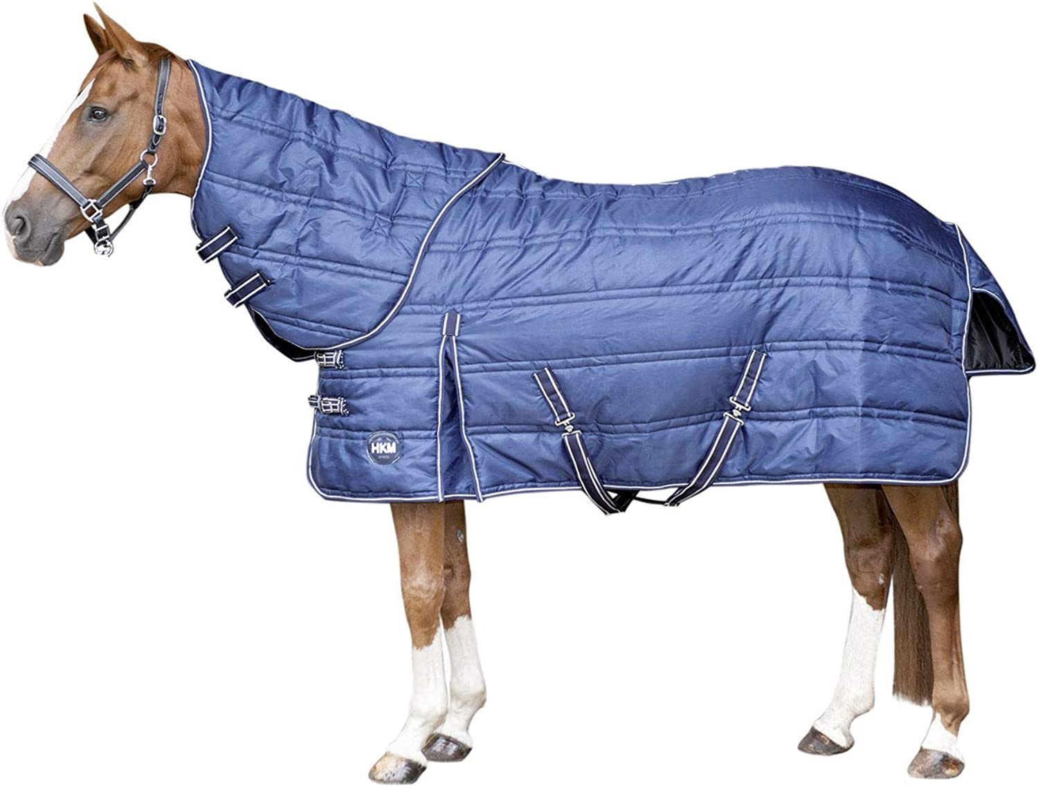Hkm Hkm 4057052345234 Stable Blanket with Removable Neck Part 6900 Dark bluee 115