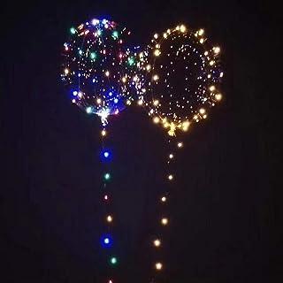 Funnyrunstore Luminoso Globos de Led Globos de Helio Transparente Fiesta de Cumpleaños Feliz Decoraciones Regalo para Niños Globos de Boda LED (Transparente)