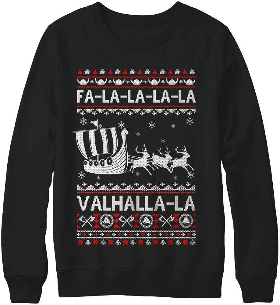 TeesPass Recommended FA La Valhalla Viking Christmas Sh Ugly Nashville-Davidson Mall Ship Sweater