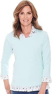 Chums Ladies Womens Mock Shirt Jersey Top